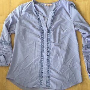 Lavender blouse with cute details